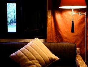 Fauteuil confortable du Lodge africain