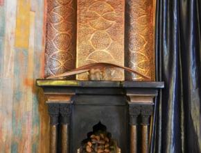 Lodge balinais avec cheminée