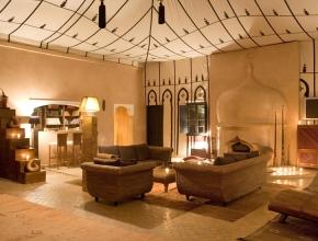 Bibliothèque lodge maître - hotel palmeraie à Marrakech