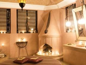 Salle de bain chic et design du lodge maître
