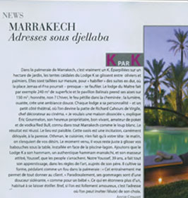 LodgeK boutique hotel spa Marrakech