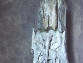 Objet sculpté de la matière fer
