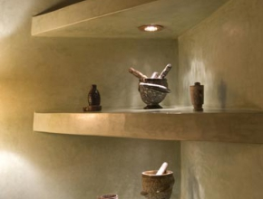 Décoration interne de WC lodge Africain